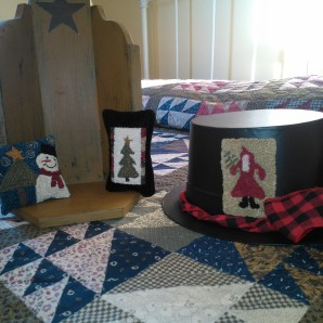 Little pillow tucks and a top hat Santa